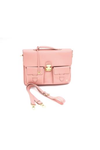 REQU Design: Púder színű bőr business bag