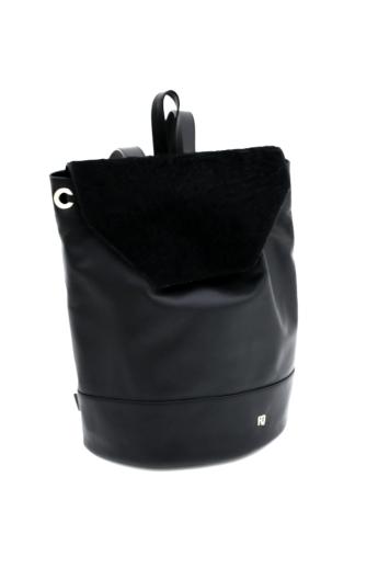 REQU Design: Fekete bőr hátizsák