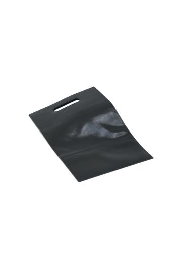REQU Design: Fekete gyűrt lakkbőr szatyor