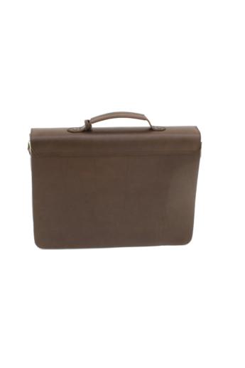 REQU Design: Mogyoróbarna férfi bőr business bag