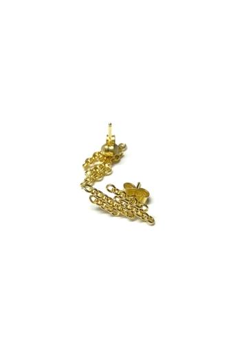 Tengely Nóra: Fragment S fülbevaló - arany
