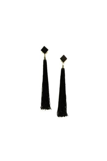 TIA Design: Rojtos fülbevaló - fekete