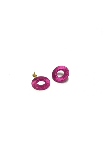 TIA Design: Kör fülbevaló - lila