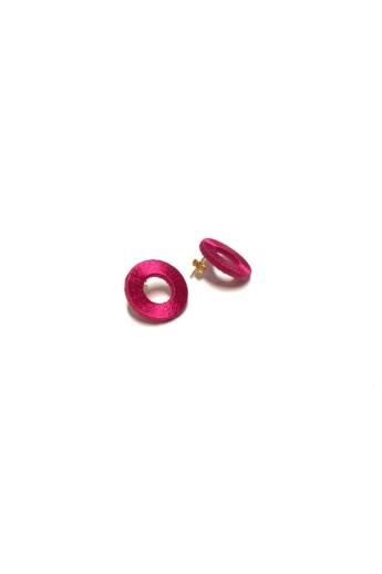 TIA Design: Kör fülbevaló - pink