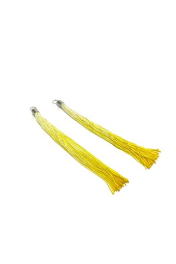 TIA Design: Rojtos fülbevaló ombre - sárga
