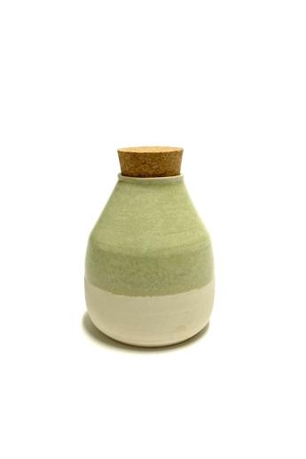 Tiéd: Zöld dugós váza / magasság 12cm