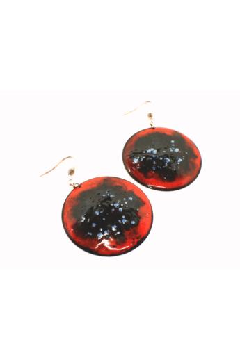 Bakos Natália: Piros Planetary fülbevaló