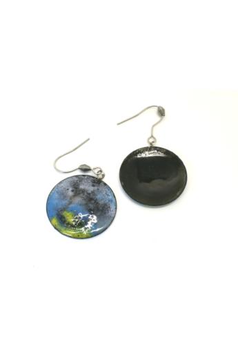 Bakos Natália: Ködös Mini Planetary fülbevaló
