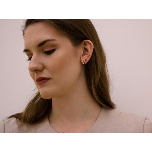 Kinga Horányi: IKIIKI ezüst fülbevaló / piros kör