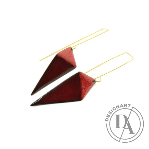 AME Creation: Deltoid n2 / tűzzománc fülbevaló
