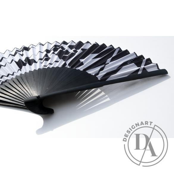 Artfans: Fekete-fehér absztrakt - művészi legyező