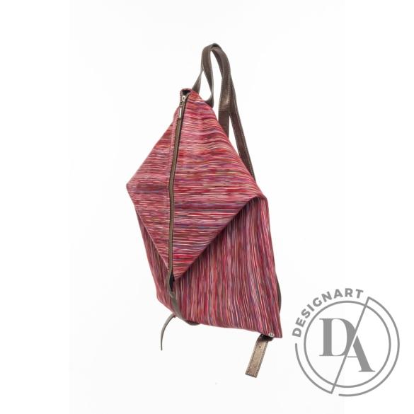 Artista: Delta bőr hátizsák - piros csíkos