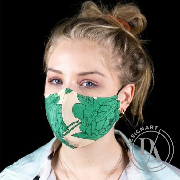 Artista: Arcmaszk / Zöld növényes