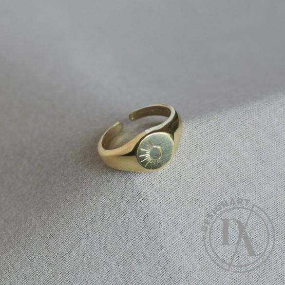 Babushka: LSolis pecsétgyűrű / aranyozott