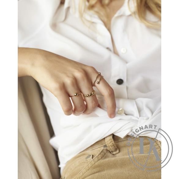 Babushka: Threedots gyűrű / aranyozott
