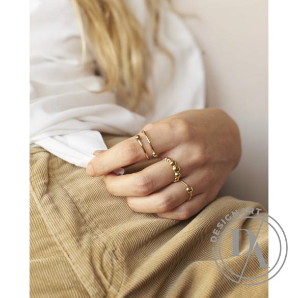 Babushka: Dot ezüst gyűrű / aranyozott