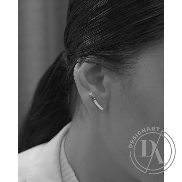 Babushka: Linea Curved fülbevaló kicsi / aranyozott