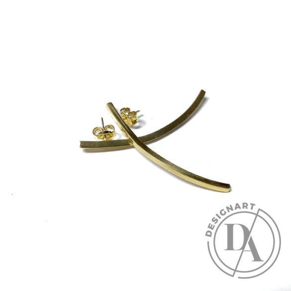 Babushka: Linea curved fülbevaló nagy / aranyozott