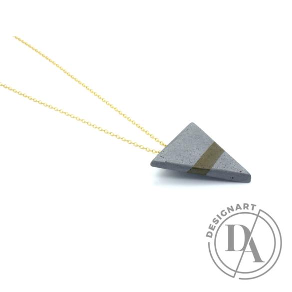 Bibeton: Háromszög szürke medál keret nélküli