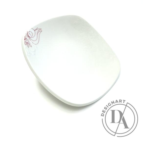 Boldizsár Zsuzsa: Fehér tányér dombor-mintás ø20cm