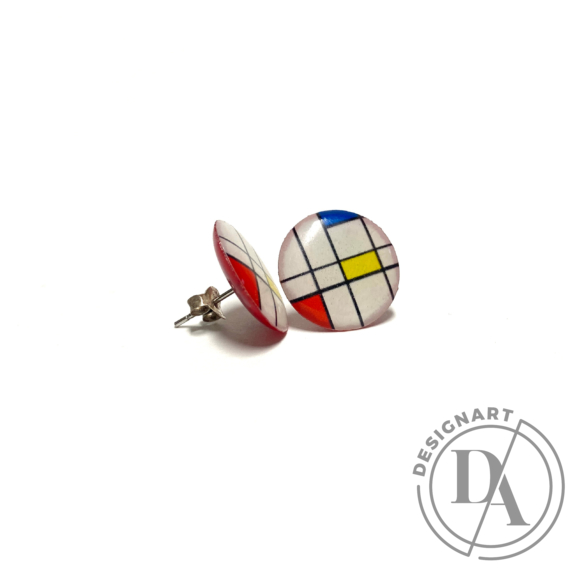 "COTA: Kis ""Mondrian"" fülbevaló"