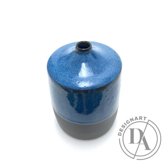 Czakó Kerámia: Kék Váza n6 / magasság 15cm, ø 9cm