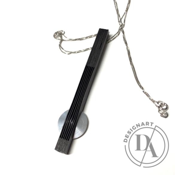 Veron lamella nyaklánc - fekete