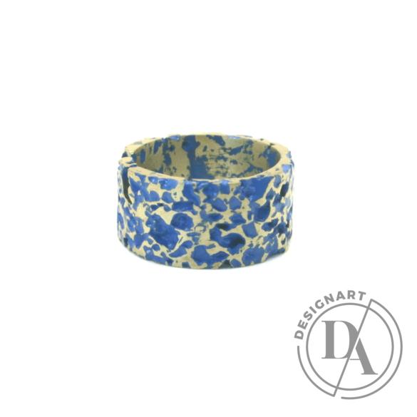 Kinga Horányi: IKIIKI ezüst gyűrű / kék