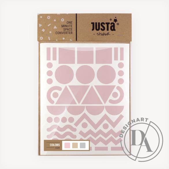 JUSTa Flash falmatrica - Frisco - Bézs+Rózsaszín+Szürke