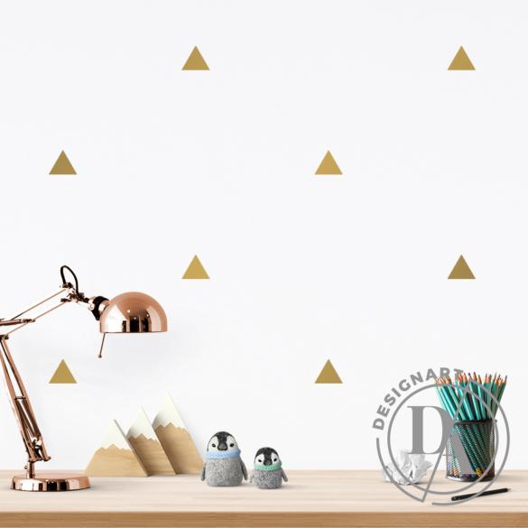 JUSTa Háromszög falmatrica - arany