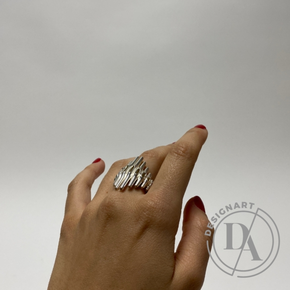 Balázs Kiss: Morph ring / Ezüst gyűrű