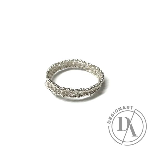 Krausz Dia: Vékony horgolt ezüstgyűrű