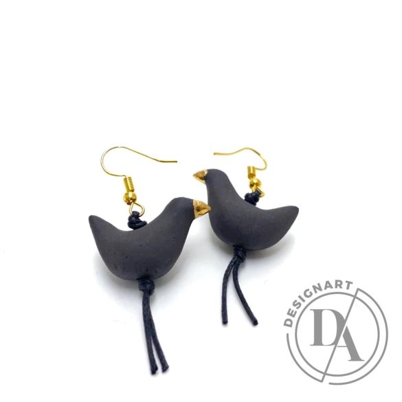 Lantos Judit: Szürker madár fülbevaló