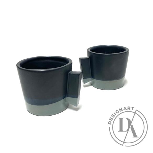 Márta Nóra: Kávéscsésze pár n1 / magasság 7cm, ø 7cm