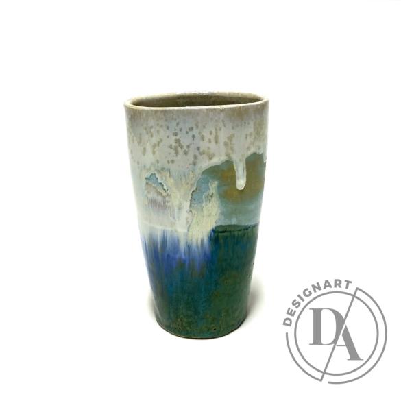 Márta Nóra: Impresszionista váza n2 / magasság 17cm, ø 9cm