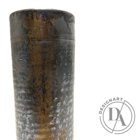 Márta Nóra: Fémes csőváza n1 / magasság 21cm, ø 8cm