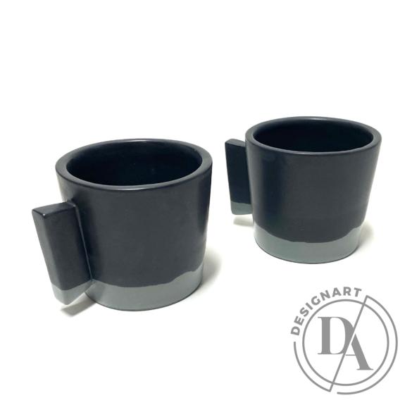Márta Nóra: Kávéscsésze pár n3 / magasság 7cm, ø 7cm