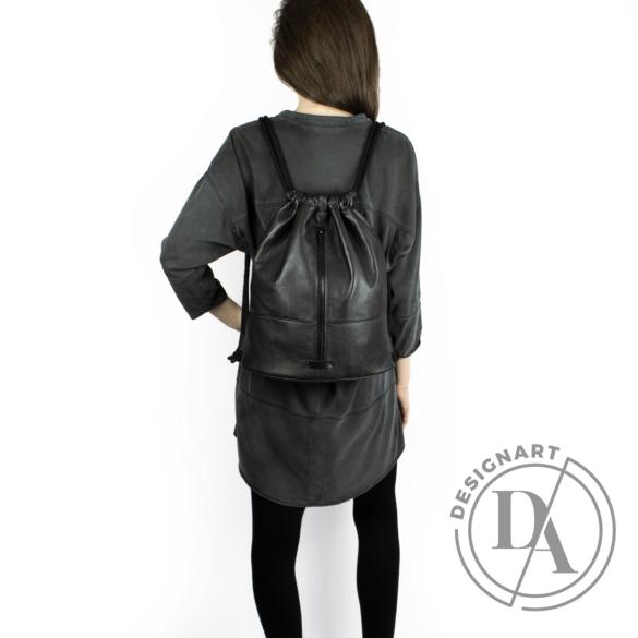 MIMIKRI: Fekete nappa hátizsák