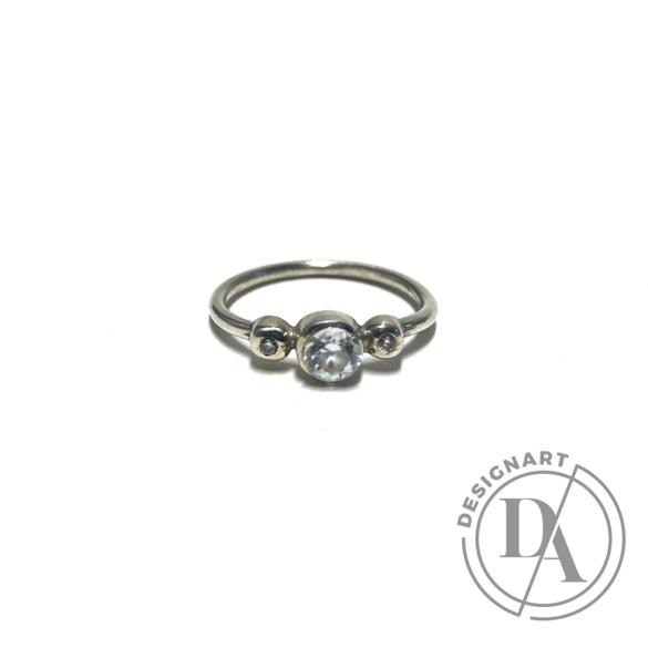 Mester Éva: Trio gyűrű (kövek: cirkónia)