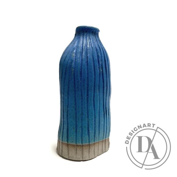 Pastel Ceramics:  Bordás kék váza / magasság 19cm