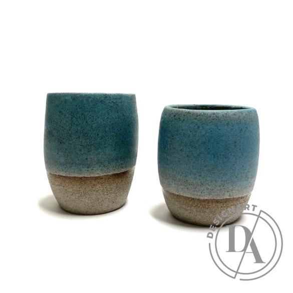 Pastel Ceramics:  Zöld ködös bögre n1 / magasság 9cm