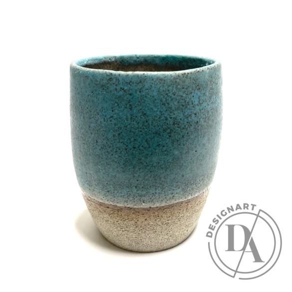 Pastel Ceramics:  Zöld ködös bögre n2 / magasság 9cm, ø 7cm