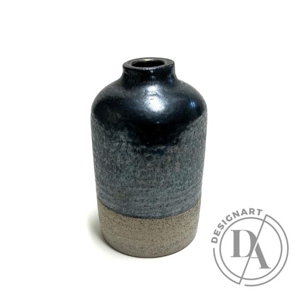 Pastel Ceramics:  Fényes metálfekete váza / magasság 12cm