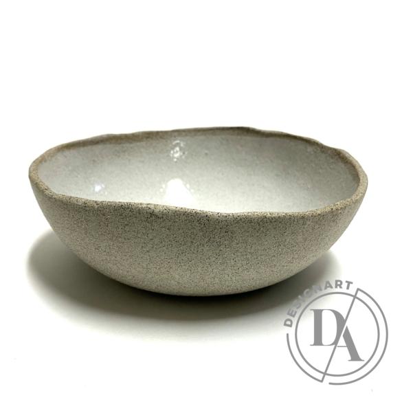 Pastel Ceramics:  Kis fehér mázas szürke tál / ø20cm