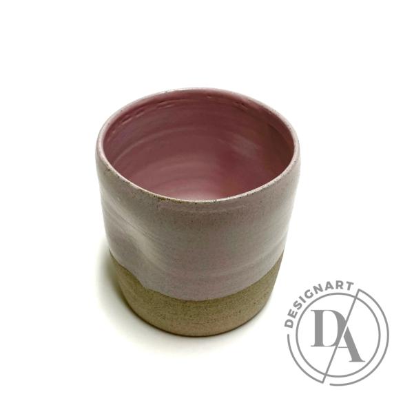 Pastel Ceramics:  Rózsaszín nyomott bögre / magasság 8cm