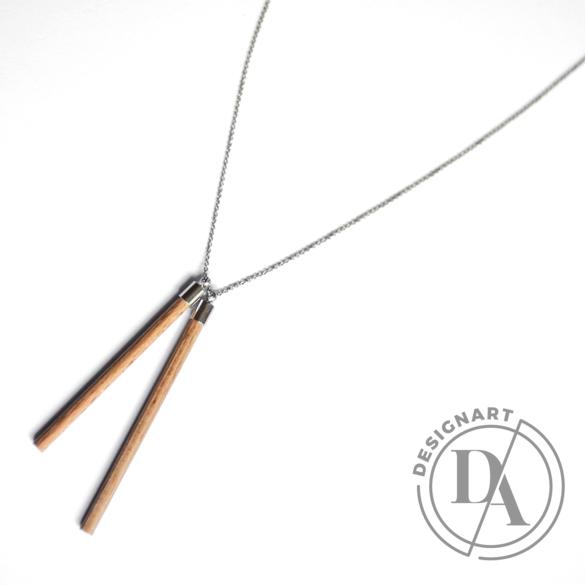Personal Perception: Wood Necklace / fa nyakánc, hosszú
