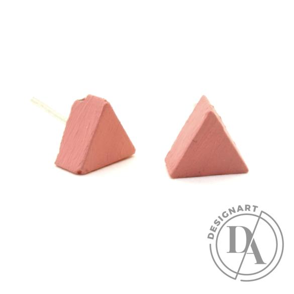 Rebelle: Kicsi háromszög beton fülbevaló