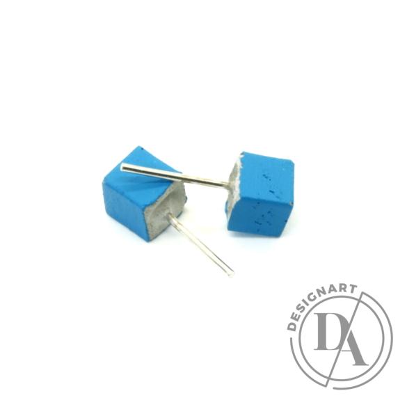 Rebelle: Kicsi kocka beton fülbevaló