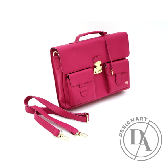 REQU Design: Fukszia színű bőr business bag