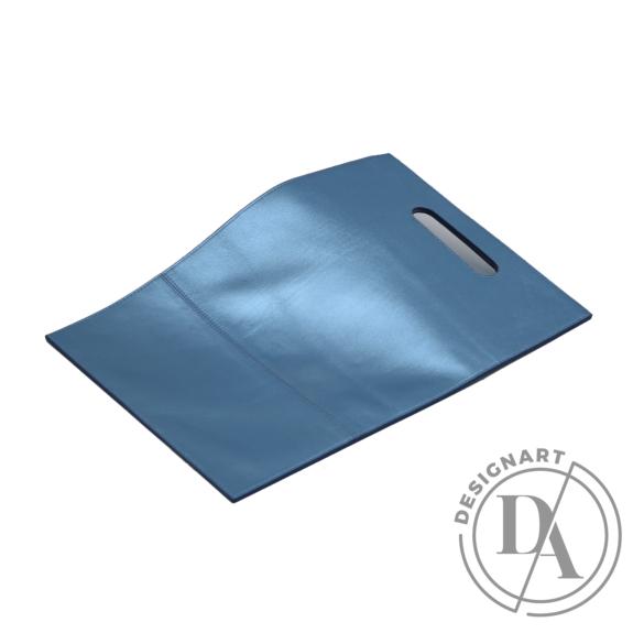 REQU Design: Fényes vízkék bőr szatyor